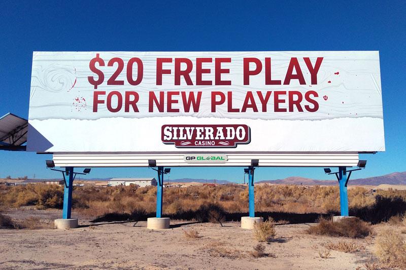 Billboard design silverado casino