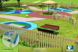 Seashell Trust playground funded by Shepherd Friendly Society