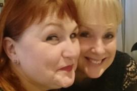 Morag Siller and Sally Dynevor