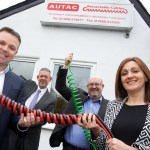 David and Sallie Lowe, the new owners of Autac Products, with Andy Adshead, from the Royal Bank of Scotland and Graham Saul, from Tectanet Systems Ltd