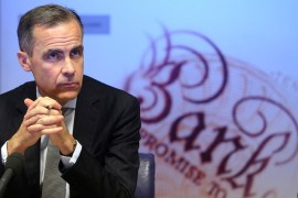 Mark Carney, Governor Bank of England downgrades forecast for growth
