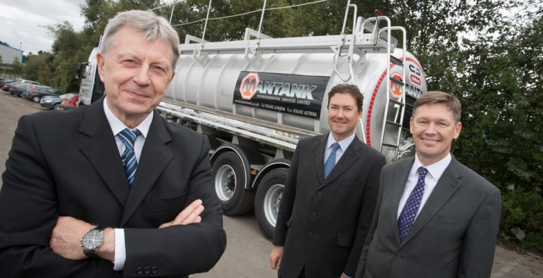 Left to Right - Dave Royle Managing Director of Mantank Environmental Services with Mark Christmas from Lombard and Ian Comber from Royal Bank of Scotland