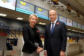 Manchester Airport passenger numbers hit 25m - Colette Roche, Deputy CEO Manchester Airport and Christoph Debus, CEO Thomas Cook Airlines