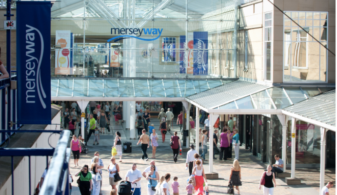 Stockport's Merseyway shopping centre