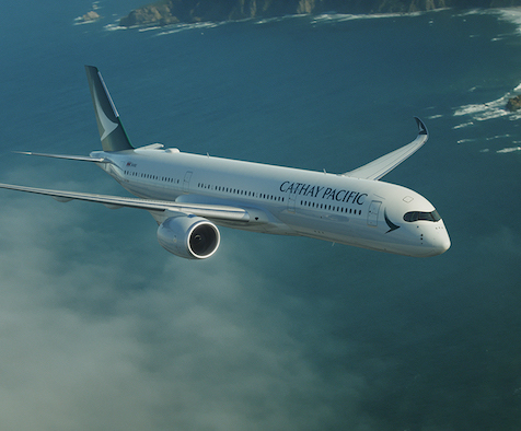 Cathay Pacific's A350 flying Manchester to Hong Kong