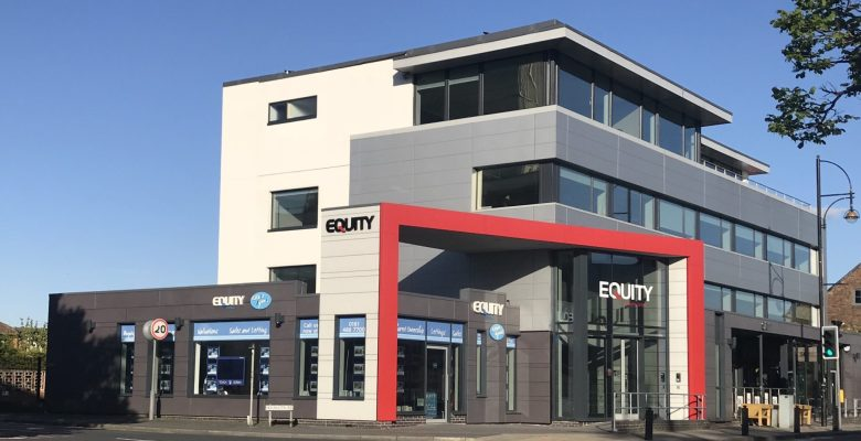 Stockport Estate agent Equity Living introduces fixed fee - Equity Housing Cheadle Hulme building