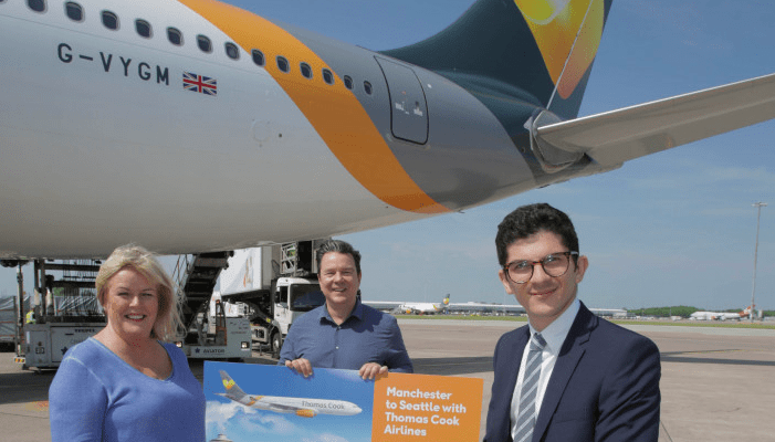 Thomas Cook launch Manchester to Seattle summer service