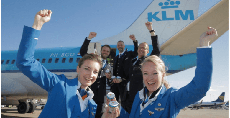 KLM celebrate 80 years flying Manchester to Amsterdam