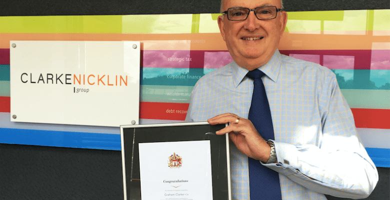 Stockport accountant Graham Clarke celebrates 50 years with ICAEW