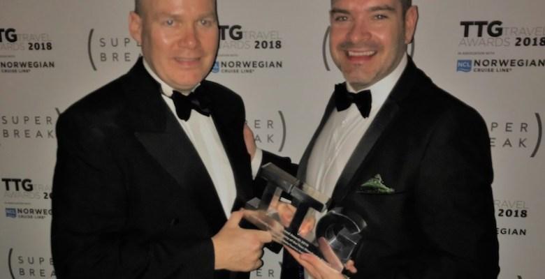 Patrick Alexander and Seb Thompson TTG Travel Awards copy