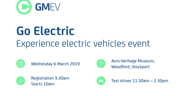Test drive an electric vehicle at this business-only TfGM event in Woodford