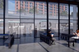 CGI fly-through of new Stockport Transport Interchange