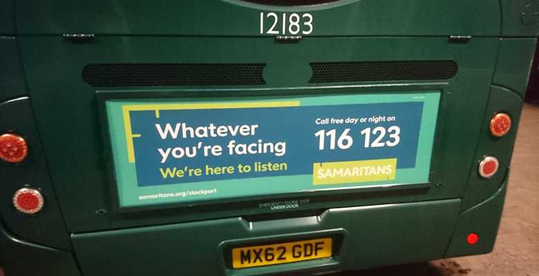 Stockport Samaritans take to the Bus for marketing campaign