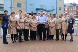 Andy Burnham with the newly qualified Nursing Associates