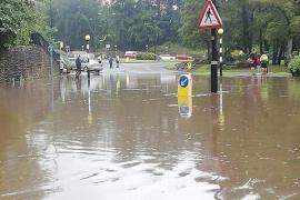 Flooding in Bramhall - courtesy of Facebook - I love Bramhall