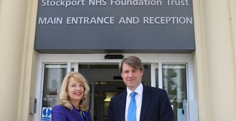 Health Minister visited Stepping Hill