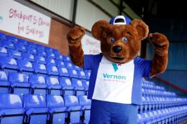 Vernon Bear shows off his new look