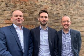 L to R: Broadgrove's Richard Walters, Jack Appleton and Andy McMullan