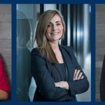 Claire Beaumont, Danielle Ayres, Nicola Fraser have all been promoted at Stockport Solicitors, Gorvins
