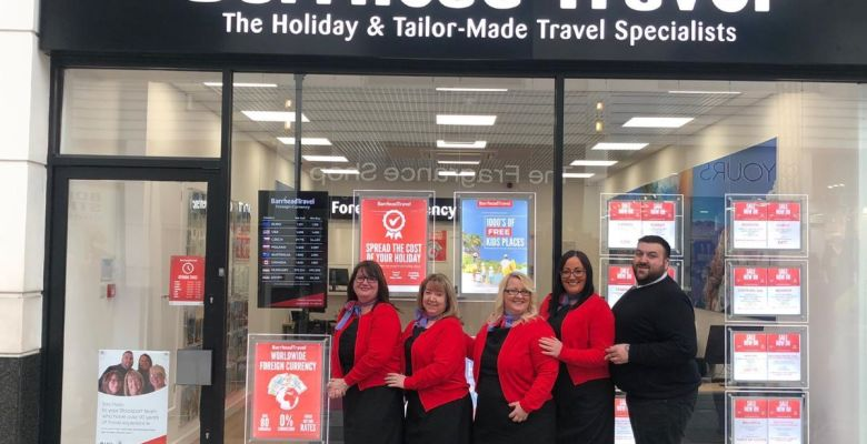 Barrhead's Stockport travel agent opening day