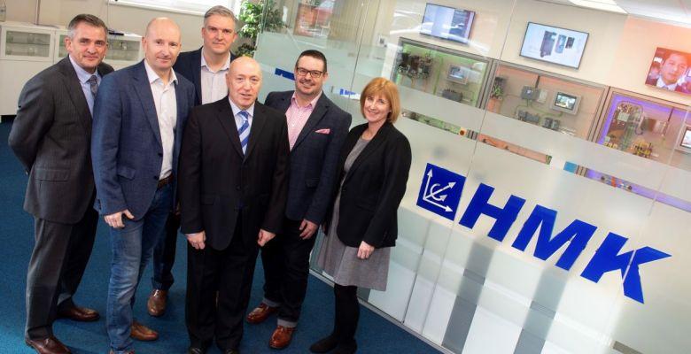SAS Daniels' Paul Tyrer with the HMK leadership team
