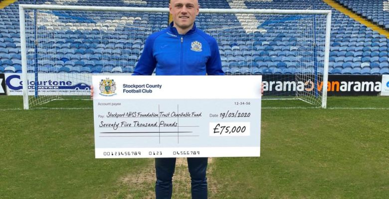 Stockport County donate £75,000 to local NHS Trust