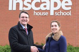 William Turner MD, Daniel Turner, and Together Trust's Alicen Thorn at the charity's Inscape School