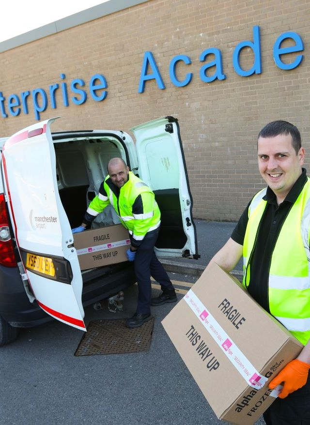 Airport staff support local community during Covid-19 crisis