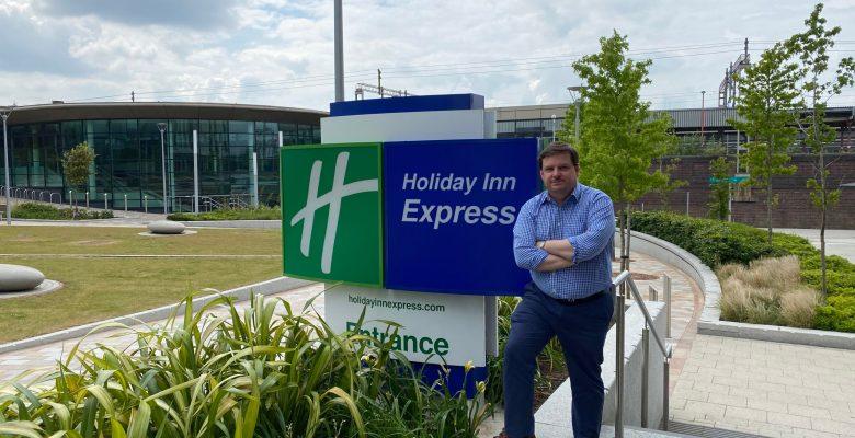 Holiday Inn Express Stockport award winning General Manager Carl Butterworth