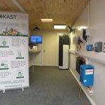 Kast mobile showroom brings energy saving technologies to Broadstone Mill