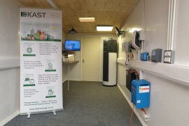 Kast mobile showroom brings energy saving technologies to Broadstone Mill