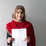 Summaiya Umar celebrates top results on Stockport College's new full time GCSE programme
