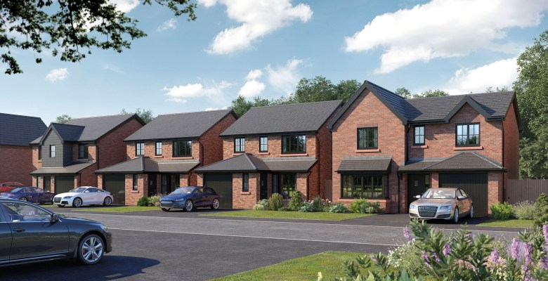 Typical imagery of the new homes coming to Poynton