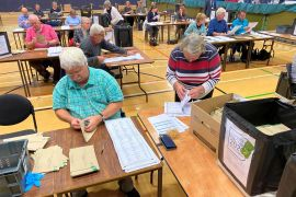 Volunteers Postal Vote Opening in historic Guernsey Election