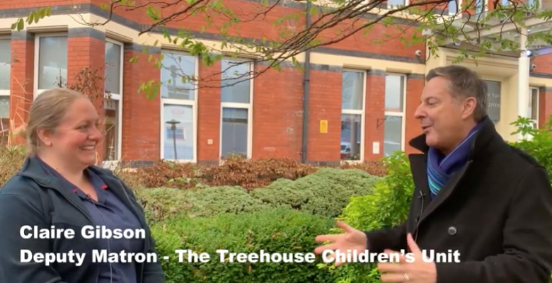 One year on, The Treehouse children's unit benefits from Stockport frog auction