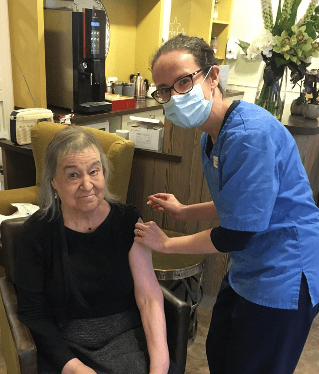 Covid-19 vaccinations rolled out at Cheadle care home