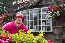 Joanne Farrell, licensee of the Windsor Castle pub in Marple Bridge