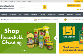 Platform81 B2B E-commerce website for Shonn Brothers Manchester wholesaler