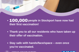Stockport hits 100,000 covid vaccinations