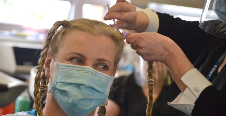 Stockport College student shaves locks in support of alopecia sufferers