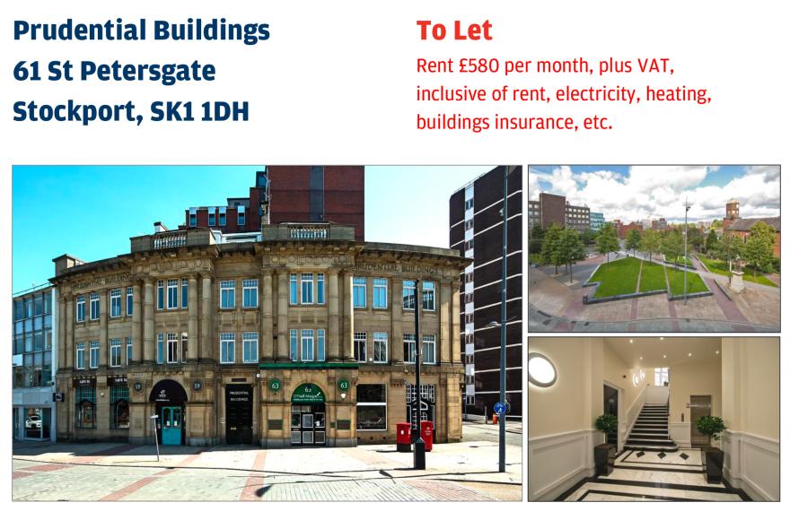 Prudential Buildings 61 St Petersgate Stockport, SK1 1DH