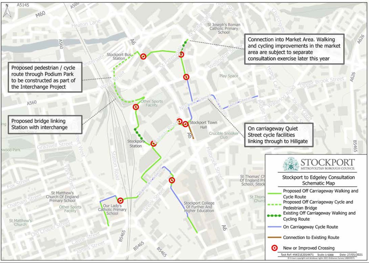 Businesses asked to share views on walking and cycling improvements between Edgeley and the town centre