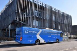 Planet Mark's Zero-Carbon 'Battle Bus' arrives into Stockport