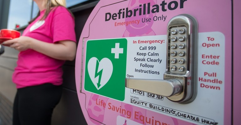 Stockport based Cardiac Science welcome the news of a UK wide database of defibrillators. Picture by Dave Thompson/Route One Photography - 07711 459404