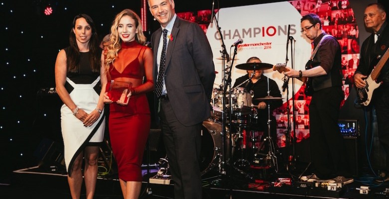 Jessica at the Greater Manchester Sports awards