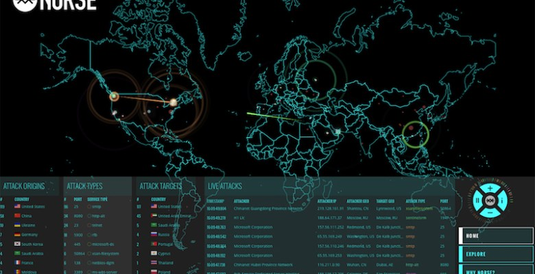 Cyber Essentials Scheme - Norse live cyber attacks map