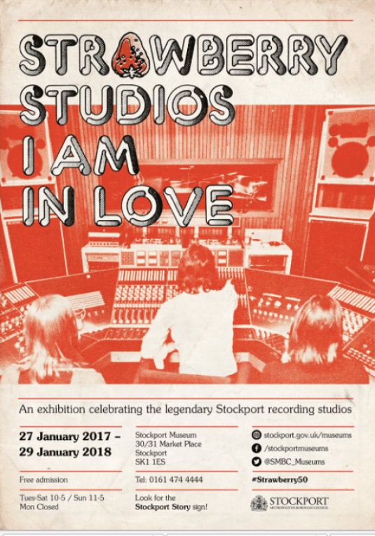 Strawberry Studios exhibition at Stockport Museum