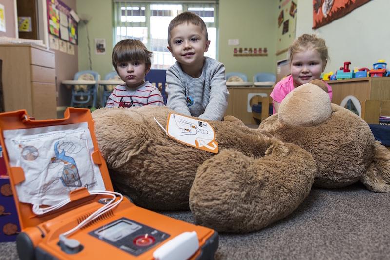 Brown Bear nursery children enjoying Flat Stan First Aid training for the In Safe Hands Award scheme