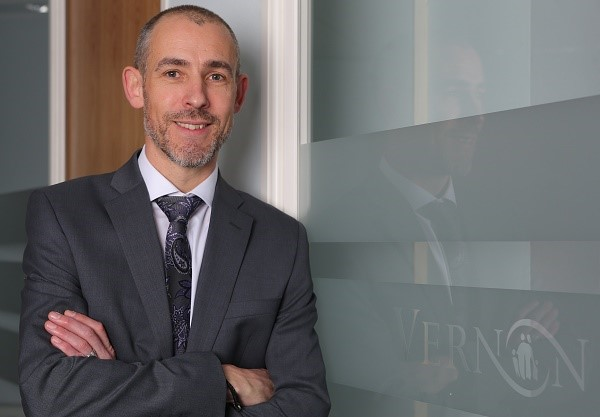 Ian Keeling of Stockport mutual, the Vernon