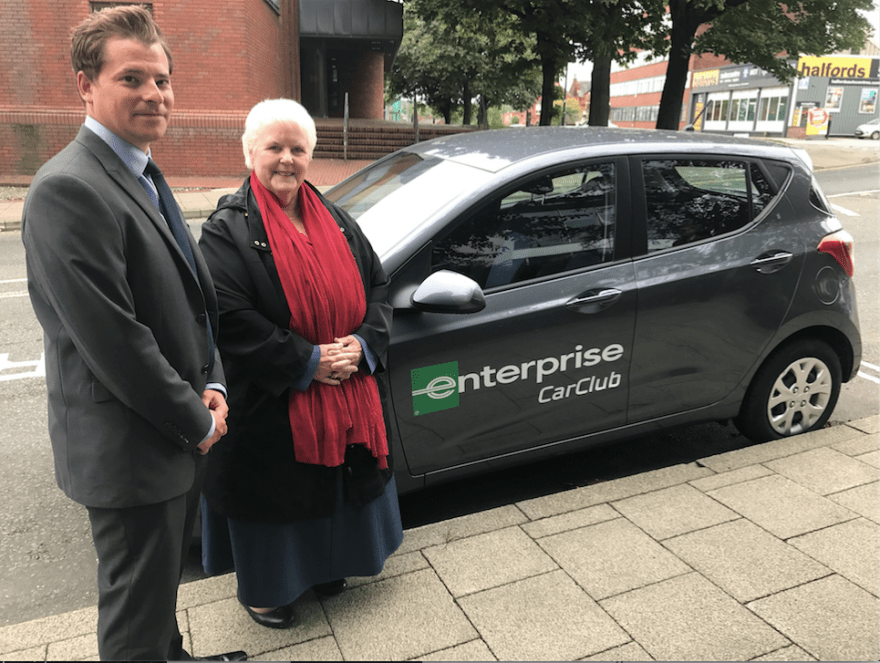 Car rental in Stockport is set to change with Enterprise Car Club where locals and visitors can access rental cars off peak, by the hour or by the day from their phone and from locations in Stockport Town Centre.